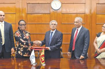 The agreement was signed by Secretary, Ministry of Finance and Mass Media, Dr. R.H.S. Samarathunga on behalf of the Government and World Bank Country Director for Sri Lanka and the Maldives, Idah Z. Pswarayi–Riddihough on behalf of the World Bank at the Ministry of Finance.