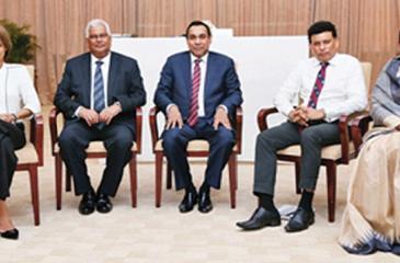 Judges of the final round: From left - Otara Gunewardene, Paddy Withana, President THASL, Sanath Ukwatte, Anton Godfrey and Rosy Senanayake