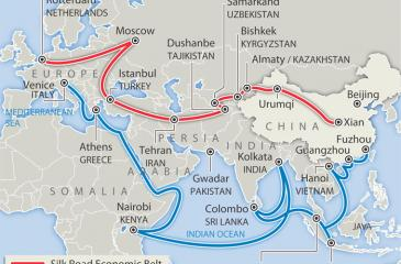 The first century CE: Extent of Silk Roads. Pic courtesy Wikimedia commons.