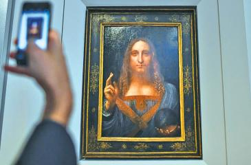 """""""Salvator Mundi"""" (""""Savior of the World"""") is one of fewer than 20 known paintings by da Vinci. Credit: CHRISTIE'S"""