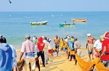 Beach-scene fishing