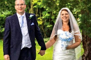 Stephanie married her partner David Pearson  in July this year.