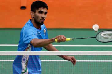 India's Srikanth Kidambi plays against Mexico's Lino Munoz during a men's singles match at the 2016 Summer Olympics in Rio de Janeiro, Brazil, Thursday, Aug. 11, 2016.  (AP Photo/Kin Cheung)