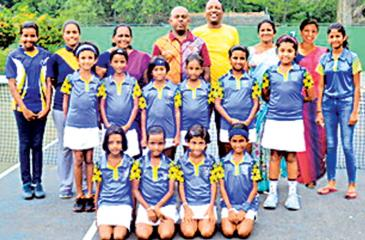 Seated from left Thiniya Fernando, Gehansa Methandi, Kumarangi Jayasinghe, Sithmi Halwathura,Standing from left Yasasvi Narangoda, Anulki Gunewardena, Sesandi Liyanage, Vosandira Rathnayake, Inuri Wijesinghe, Manthi Gallage Standing back row Dahamna Methnadi, Chanodaya (Captain), K.D.N Jayanthi (Teacher-in-Charghe), Prageeth Polgampola, G.Subramaniam (Head oach), Chandani Gunewardena (Teacher), Rebeca Perera (Teacher).