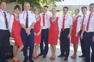 Royal Flight Boeing 767 Captain and crew members