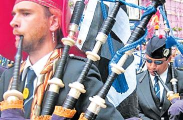 Bagpipes: not safe for playing while driving