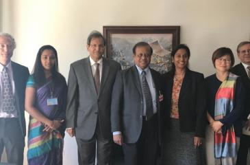 Minister of Science, Technology and Research, Susil Premajayantha with  UNCTAD officials.