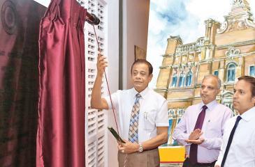 People's Bank Chairman Hemasiri Fernando opens the centre