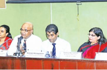 Members at the panel discussion titled 'The new forex Act and Regulations – What does it mean for business?' organized by the Ceylon Chamber of Commerce.     PIC: SAMANTHA WIJESIRI