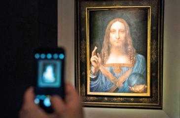 'Salvator Mundi' by Leonardo da Vinci. Pic: Drew Angerer/Getty Images
