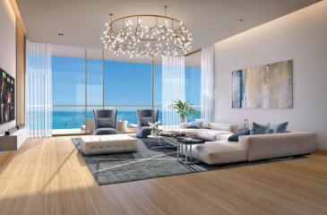 A model of the Sky Villa living room