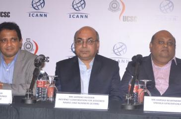ICANN and local panel of expertise at the media briefing.