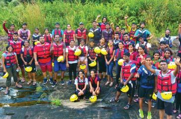 Youth Ambassadors at the three-day adventure camp in Kitulgala