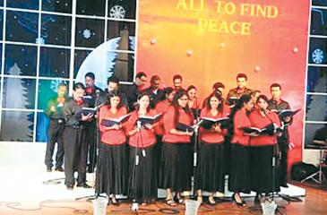 The Carols being sung last year