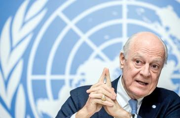 UN Special Envoy for Syria Staffan de Mistura says the Syrian government delegation refused to engage at the Geneva peace talks.  Pic: Fabrice Coffrini/AFP/Getty Images