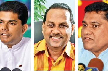 Crusaders for clean politicians: M.M.Mohamed, Gayantha Karunatilleke, Mahinda Amaraweera, Vijitha Herath, and Rohana Hettiarachchi
