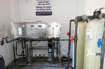 A Reverse Osmosis (RO) plant provided  by Jinasena (Pvt) Ltd.