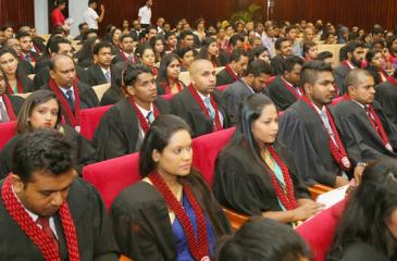 A section of the new graduates
