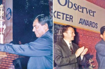 Past winners of the Observer Schoolboy Cricketer- Thilan Samaraweera 1994 - 95 and Nimesh Perera 1996