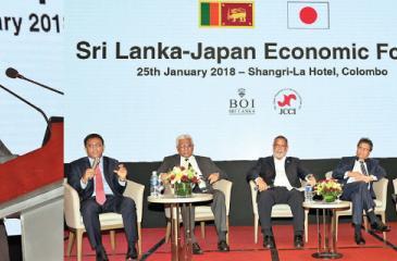 The Sri Lanka-Japan Economic Forum in progress