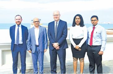 Lazard and MTI officials in Colombo