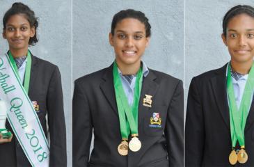 Netball Queen - Aneesha Perera , Yischelle Foenander - Best Shooter and Sajali Hettiarachchi - Best Defensive Player