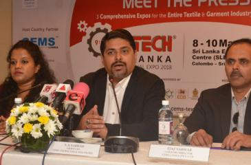 CEMS Global USA and Asia Pacific Group CEO S.S. Sarwar addressing the press conference held in Colombo. CEMS Lanka Country Director Ejaz Sarwar and CEMS Lanka Marketing and Coordination Head Thilani Weerarathna were also present.  Pic: Vipula Amarasinghe