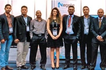 Oofficials of Sri Lankan companies exhibiting at Connect Expo