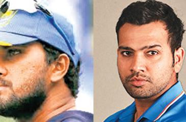 Dinesh Chandimal and Rohit Sharma