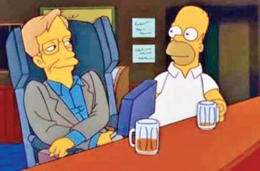 "The theoretical physicist appeared in four episodes of  ""The Simpsons.""  (Pic:YouTube)"
