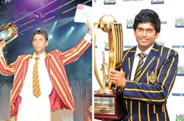 Past winners of the Observer Schoolboy Cricketer : Dinesh Chnadimal 2009, Ananda College and Bhanuka Rajapaksa 2010, 2011 Royal College