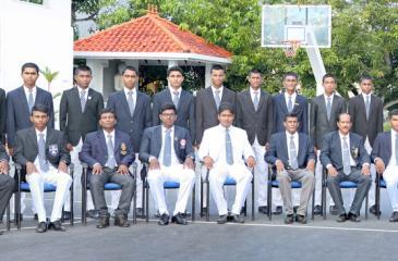 Dharmasoka College: Front row from left-  Isuru Wickramasinghe (Coach) Ushan  Imantha, TH Dervin Priyanka (MIC) Nimesh Mendis (Captain) Hasitha K.Wettamuny (Principal) Sanath Senaratne (Deputy  Principal –Sports), Viraj Chaminda (Secretary – Sports) Dinuka Dilshan (Vice Captain), W Thilan (Assistant Coach). Back row from left- Kavinda Nadeeshan, Hasitha Rajapakse, Akila Mendis, Malshika Mendis, Chamindu Dilshan, Ravindu Rashantha, Sachin Sangeeth, Chanaka Karunaratne, Akila Dilshan, Naveen Rasanga, Abeeth A