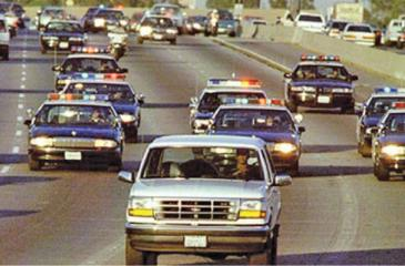 O.J. Simpson running from police on June 17, 1994