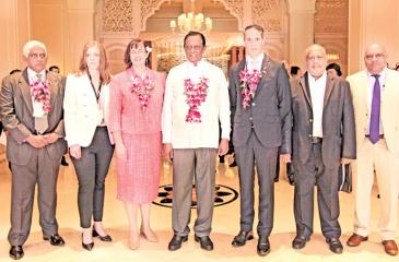 Minister Amaratunga with New Zealand Trade Commissioner Ralph Hays and High Commissioner Joanna Kempkers.