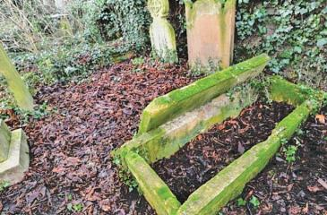 Homeless people have  been moving tombstones  and sleeping in graves  (Pic: Cambridge News/BPM Media)