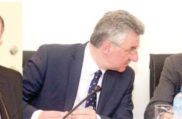 Karim, Zahradil and EU Ambassador Tung-Lai Margue at the press conference