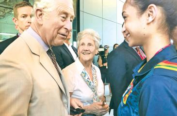 Anna-Marie Ondaatje of Sri Lankan parentage greeted by Prince Charles