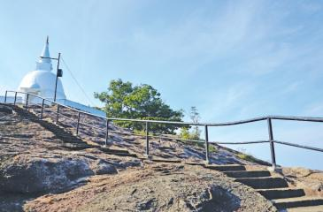 YesterDAY'S SPELL: Maligathenna's past holds many interesting tales. A lone Uda Maluwa Dagoba atop the rocky summit