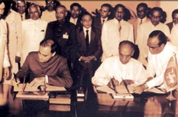 The signing of the 'famous' Indo-Lanka Accord