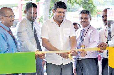 The opening of one of the self-banking units.