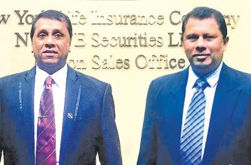 Pictured here are Ceylinco Life's Deputy General Managers Manjula Thenuwara (right) and Wasantha Wijesinghe during their training at New York Life.