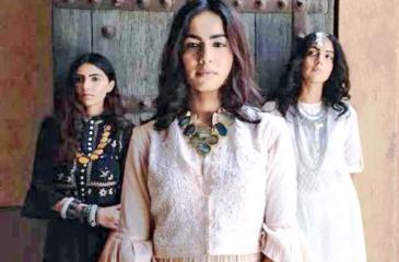 BRINGING ALIVE TRADITIONAL CRAFTSMANSHIP: Models wearing outfits  designed by Muzaffar Ali