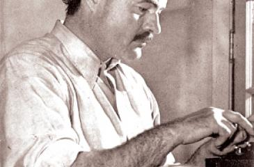 Ernest Hemingway working on a book in December 1939 (Pic: Wikipedia)