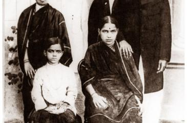 If Bharati (on right) and his family had held on to the copyright of his works, it would have expired in 1972