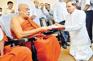 Maduluwawe Sobitha Thero was the architect and spiritual leader of the common opposition movement in 2015