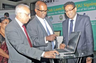 Development Strategies and International Trade Minister Malik Samarawickrama, BOI Chairman Dumindra Ratnayake and DG, BOI Duminda Ariyasinghe launch the Single Window Investment Facilitation Taskforce (SWIFT).