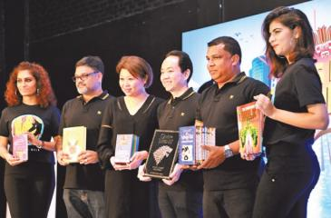 From Left: Big Bad Wolf Books Malaysia Partner Dipak Madhavan, Big Bad Wolf Books Founder/Executive Director Jacqueline Ng, Founder/Managing Director Andrew Yap, Big Bad Wolf Books Sri Lanka Partner ProRead Lanka (Pvt) Ltd Nishan Wasalathanthri introducing the latest edition of The Big Bad Wolf Book Sale to Sri Lanka