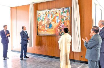 Unveiling of a picture in honour of the late Foreign Minister of Sri Lanka, Lakshman Kadirgamar