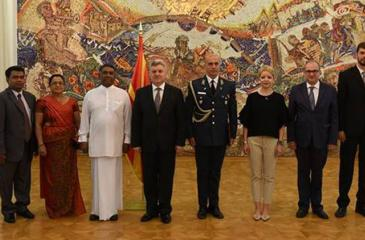 f Macedonia, presented credentials to Dr. Gjorge Ivanov, President of the Republic of Macedonia Presidential Palace