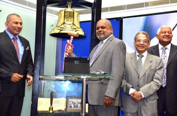 The bell ringing ceremony